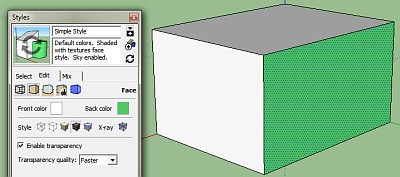 SketchUp Reversed Face
